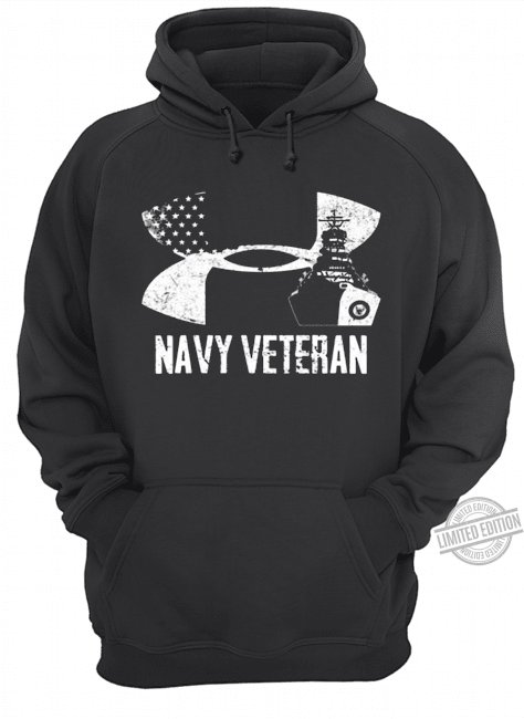 Navy Veteran Under Armour Logo Shirt