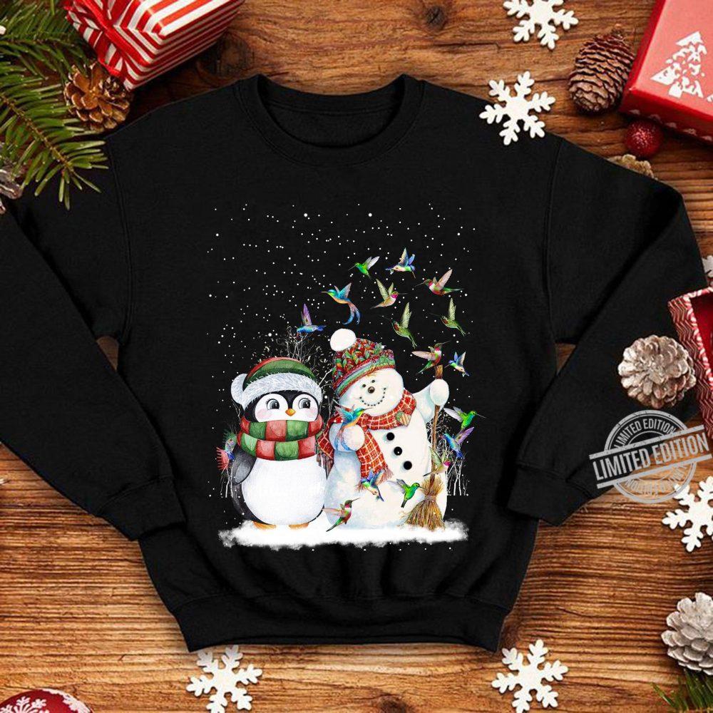 Penguin And Snowman Merry Christmas Shirt