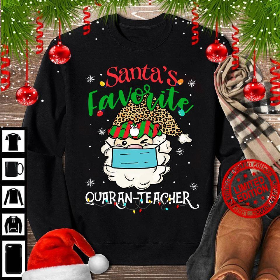 Santa's Favorite Quaran Teacher Shirt