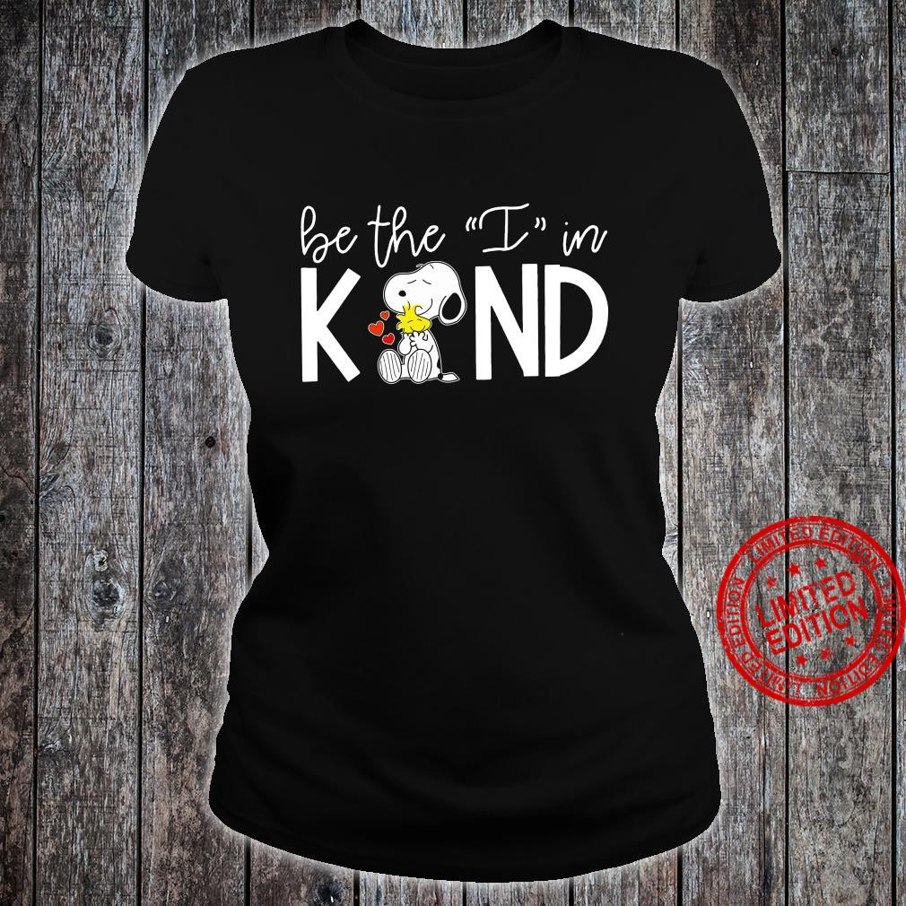 Snoopy Be The I In Kind Shirt ladies tee