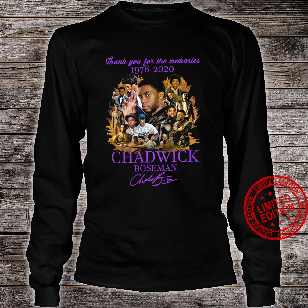 Thank You For The Memories 1976-2020 Chadwick Boseman Shirt long sleeved