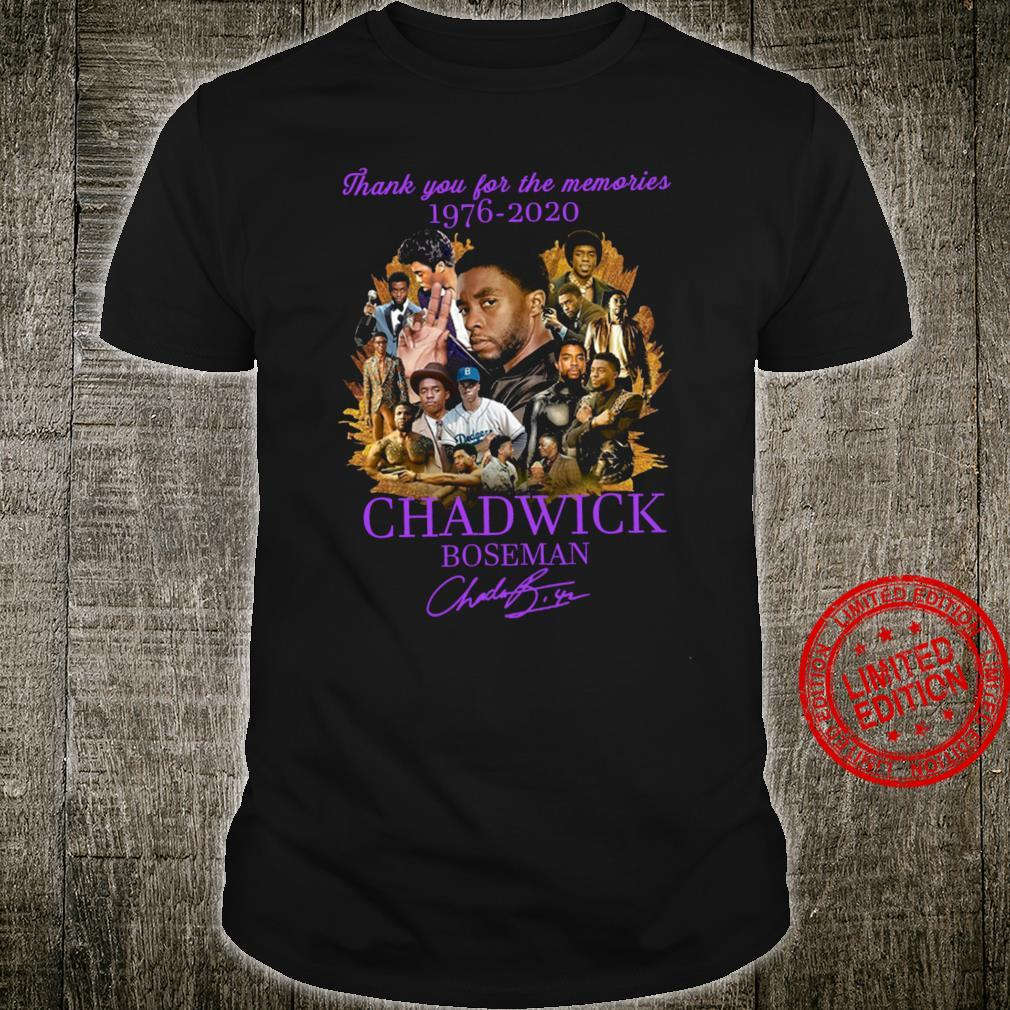 Thank You For The Memories 1976-2020 Chadwick Boseman Shirt unisex