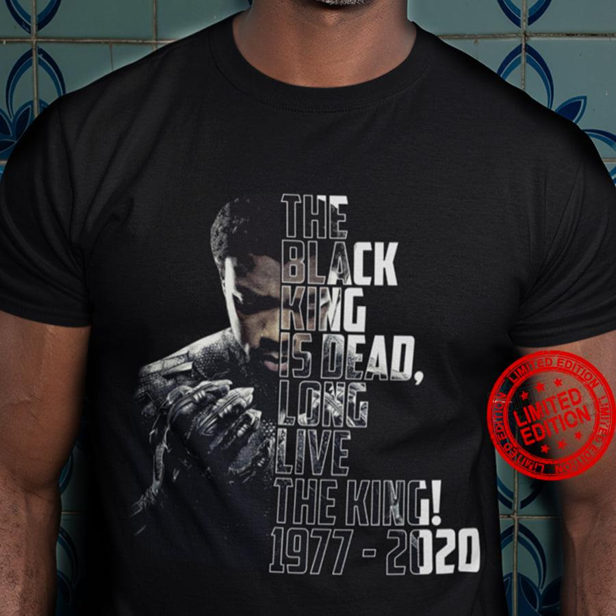 The Black King Is Dead Long Live The King 1977 2020 Shirt