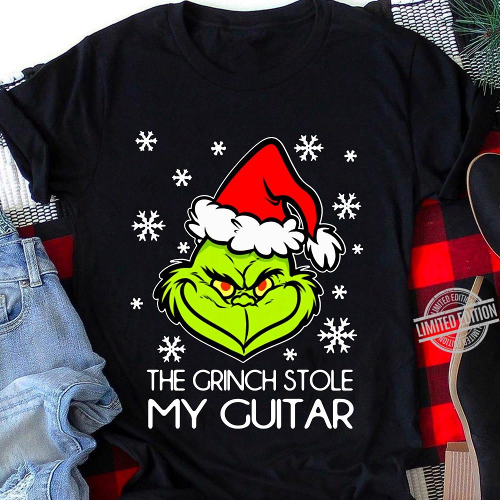 The Grinch Stole My Guitar Shirt