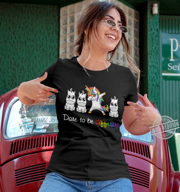 Unicorn Dare To Be DIfferent Shirt