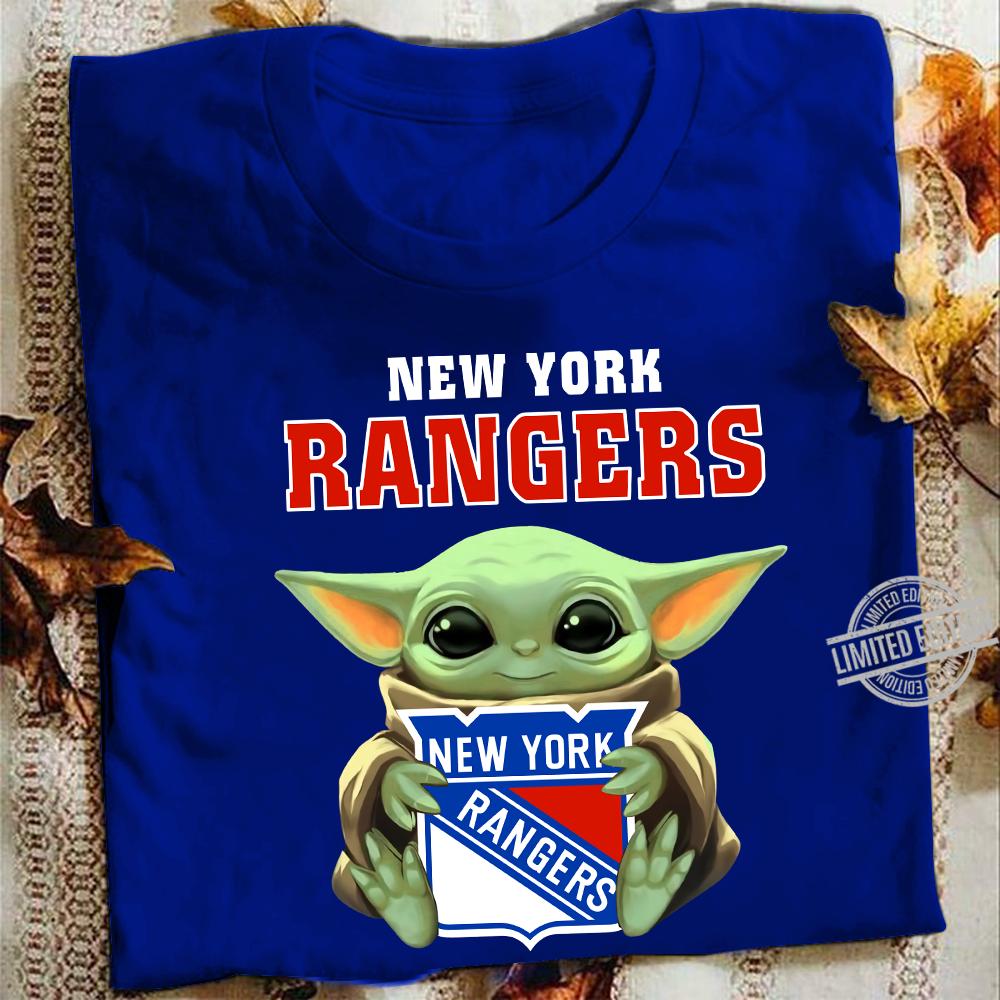 baby Yoda And New York Rangers Logo Shirt
